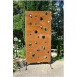 Sichtschutz Wand 200cm Garten Edelrost Sichtschutzelement Kreise mit Kugeln 4251631517337