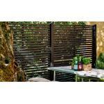Sichtschutzzaun Rankgitter Tokyo - Gartenzaun Serie mit 13 imprägnierten Zaunelementen aus Kiefer und Fichtenholz in Schwarz