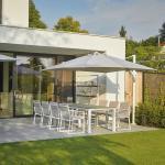 Siena Garden Auflage für Gartenstuhl Primavera 75x115x62 cm (BxHxT) Weiß Polyacryl Modern UV- & Witterungsbeständig