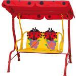 Siena Garden Kinder-Hollywoodschaukel Marie Rot 75x115x118 cm
