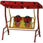 Siena Garden Marie Hollywoodschaukel für Kinder (180 x 78 x 110 cm, Polyester, Rot)