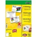Sigel Business Card 3C LP790 - Visitenkarten - hochweiß - 85 x 55 mm - 190 g/m2 - 100 Karte(n) (10 Bogen x 10) - (LP790)