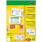 Sigel Business Card 3C LP850 - Visitenkarten - smooth satin - coated - hochweiß - 85 x 55 mm - 225 g/m² - 100 Karte(n) (10 Bogen x 10) (LP850)