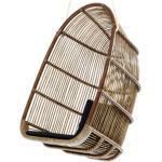 Sika Design ORIGINALS Renoir Rattanschaukel, inkl. Kissen - Antique Sitz-Rückenkissen: B432 Harvest Lys Silver / Indoor