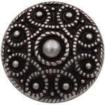 Silber dunkel elegant Metallknöpfe, Trachtenknöpfe, Metall Knöpfe leicht spitz zulaufend, 18mm, Made in Germany (6 Stück)