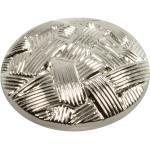 Silberner Ösenknopf mit geflochtener Struktur 15mm