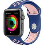 Silikonband Sport für die Apple Watch Series 1-6 / SE - 38/40mm - Blau / Rosa