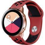 Silikonband Sport für die Samsung Galaxy Watch 40/42mm / Active 2 42/44mm - Rot