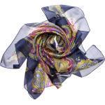 Silkroad Halstuch »Seidentuch Halstuch Schal Paisley blau gelb«
