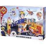 Simba FEUERWEHRSTATION Sam Mega-Feuerwehrstation XXL , Mehrfarbig , Kunststoff , 65x44.50 cm , male , Babyspielzeug & Zubehör, Kinderspielzeug, Spielzeugautos