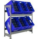 Simonrack Metall-Getränkekistenregal Bottleclick (L x B x H: 30 x 100 x 100 cm, Traglast: 100 kg/Boden, Geeignet für: 6 Kisten)