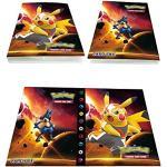 Simorce Kartenhalter, Pokemon Kartentrainer Album, Sammelkartenalbum, 30 Seiten können bis zu 240 Karten aufnehmen, (Pikachu)