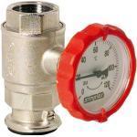 Rote Außenthermometer aus Messing