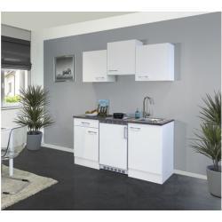 Singleküche Lucca 150 cm weiß/weiß 00011160