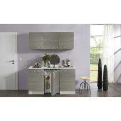 Singleküche mit Elektrogeräten Verona - grau - 150 cm