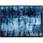 Sinus Art Leinwandbild »105x75cm Leinwandbild Petrol Abstrakt Acrylgemälde mit Pinsel«, Petrol
