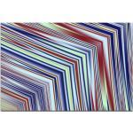 Sinus Art Leinwandbild »Abstraktes Bild Linien in rot, weiß, blau, gelb - Leinwandbild«, 120x80cm