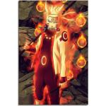 Sinus Art Leinwandbild »Naruto Sasuke Fight 90x60cm«