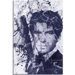 Sinus Art Leinwandbild »Pierce Brosnan James Bond Art 90x60cm Aquarell Art Leinwandbild«