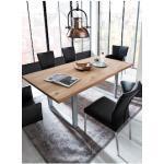 SIT Esstisch Tops&Tables, mit Tischplatte aus Wildeiche, Baumkante wie gewachsen, Shabby Chic, Vintage braun Esstische rechteckig Tische