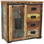 SIT Kommode Jupiter, aus recyceltem Altholz, Breite 77, Shabby Chic, Vintage bunt Kommoden Garderoben Nachhaltige Möbel