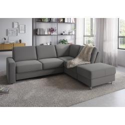 sit&more Ecksofa, Wahlweise mit Bettfunktion und Bettkasten, inklusive komfortablem Federkern, grau, mit Bettfunktion-mit Bettkasten, grau