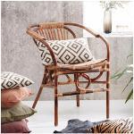 SIT Rattanstuhl Vintage braun Rattanstühle Stühle Sitzbänke