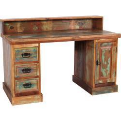 SIT Schreibtisch, Sekretär aus recyceltem Altholz mit Farbresten