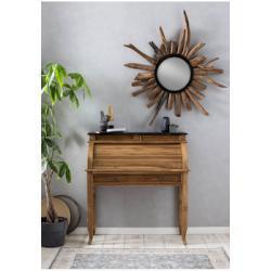 SIT Sekretär Seadrift, recyceltes Teak-Altholz, Breite 100 cm, Shabby Chic, Vintage beige Schreibtische Bürotische und Büromöbel
