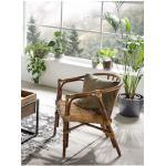 SIT Sessel, aus recyceltem Holz und Rattan beige Sessel Hocker Möbel sofort lieferbar