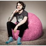 SITTING POINT Sitzsack Fluffy L Rosé Webstoff 70x90x70 cm (BxHxT)