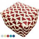 Sitzhocker Sitzwürfel 55x37x55 cm Fußhocker Bodenkissen Design Pouf Kelim Style Maja 5 Farben : rot - vintage red 4251633125219 (CAS005526-000000-0000VR)