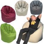 Sitzsessel Sitzsack Garten Sessel ø 70 H 80 cm Gamingsessel outdoor Big Bamba sehr formstabil fest : beige - taupe 4251633121587