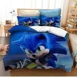 Bettwäsche Set Sonic TheHedgehog Anime 3D Heimtextilien Bettbezüge Kissenbezüge