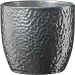 SK Übertopf Boston (27 x 26 cm, Silber, Glänzend, Reliefartiger Netzüberzug)