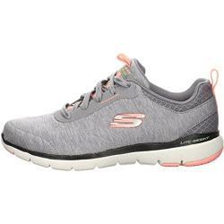 Skechers Damen Sneaker Flex Appeal 3.0 Leinen grau Gr. 43