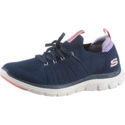 Skechers »FLEX APPEAL 4.0« Slip-On Sneaker mit sockenähnlichen Schaft zum Schlupfen, blau, navy-flieder