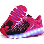Reduzierte Pinke Skater LED Schuhe & Blink Schuhe Leuchtend für Partys für Kinder