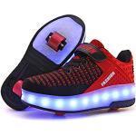 Reduzierte Rote LED Schuhe & Blink Schuhe Leuchtend für Herren