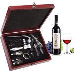Smaier Weinöffner-Set bestehend aus geflügeltem Korkenzieher und Flaschenöffner, Edelstahl, Wein, Rotwein Set of 9