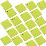Smart 110534 Notizzettel klebend   Sticky Notes   Klebezettel   selbstklebend Haftnotizen 75x75mm 50 Blatt Call 20 Stück