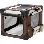 Smart Top Deluxe Hundebox Transportbox, L: 61 cm B: 46 cm H: 43 cm beige-braun