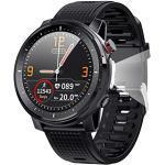 Smart Watch, 1,3-Zoll-Smartwatch mit rundem Touchscreen, Bluetooth 5.0-Fitness-Tracker mit Herzfrequenzmesser, langer Standby IP68 wasserdichte Uhr für Männer und Frauen für iOS Android Handy(Schwarz)