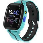 Smartwatch für Kinder, Smartwatch für Jungen, Mädchen 4-12 Jahre, Telefonuhr mit Anruf, Touchscreen, Spiele, Musikplayer, Taschenlampe, Kamera, Wecker, Geschenk (Blau)