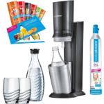 SodaStream Crystal 2.0 Promopack Titan Wassersprudler schwarz