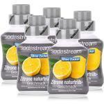 SodaStream Sirup ohne Zucker Zitrone naturtrüb Geschmack 375ml (5er Pack)