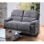 Sofa in grauer Microfaser bezogen mit Relaxfunktion,, 2-Sitzer, Maße: B/H/T ca. 153/96/93 cm