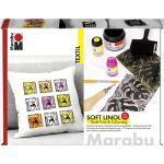 SOFT LINOL Druck TEXTIL-Design-SET Marabu mit Druckfarbe und Zubehör 081