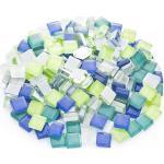 Softglas-Mosaik, Blautöne, 10 x 10 mm, 200 g