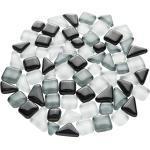 Softglas-Mosaik, grau-mix, polygonal, 10 - 20 mm, 200 g
